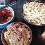 三田製麺所で辛つけ麺大盛りと肉ねぎ飯を食べてきた!この辛さ病みつきレベル!